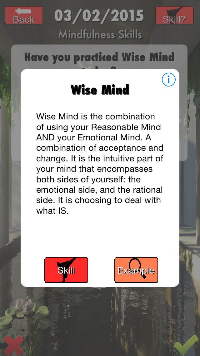 Wise Mind = Reasonable and Emotional Mind