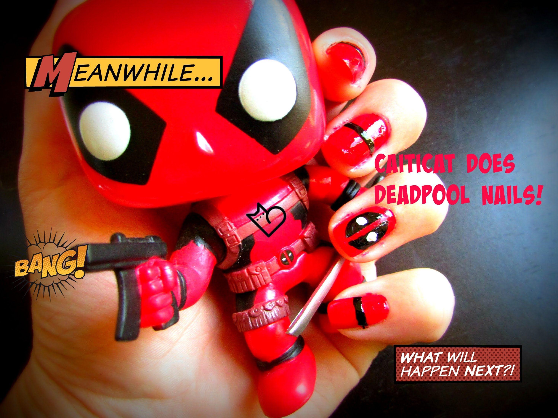 DeadPool Nail Art - YouTube   DIVERSIONS   Deadpool   Pinterest ...