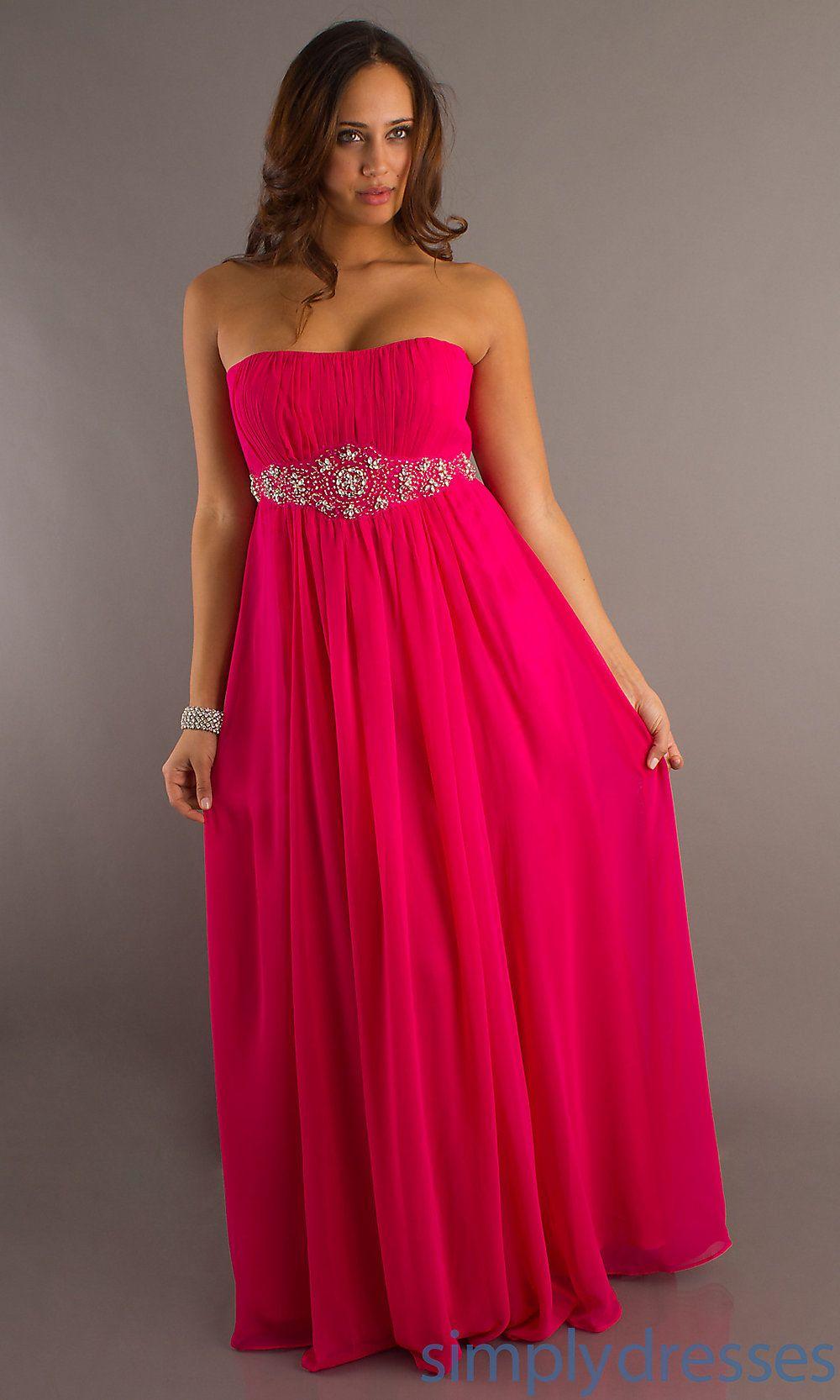 Strapless flowing plus size gown dressesformals pinterest