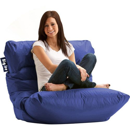 Dorm Chair Seating Teens Furniture College Kids Bedroom Bean Bag Chairs Blue