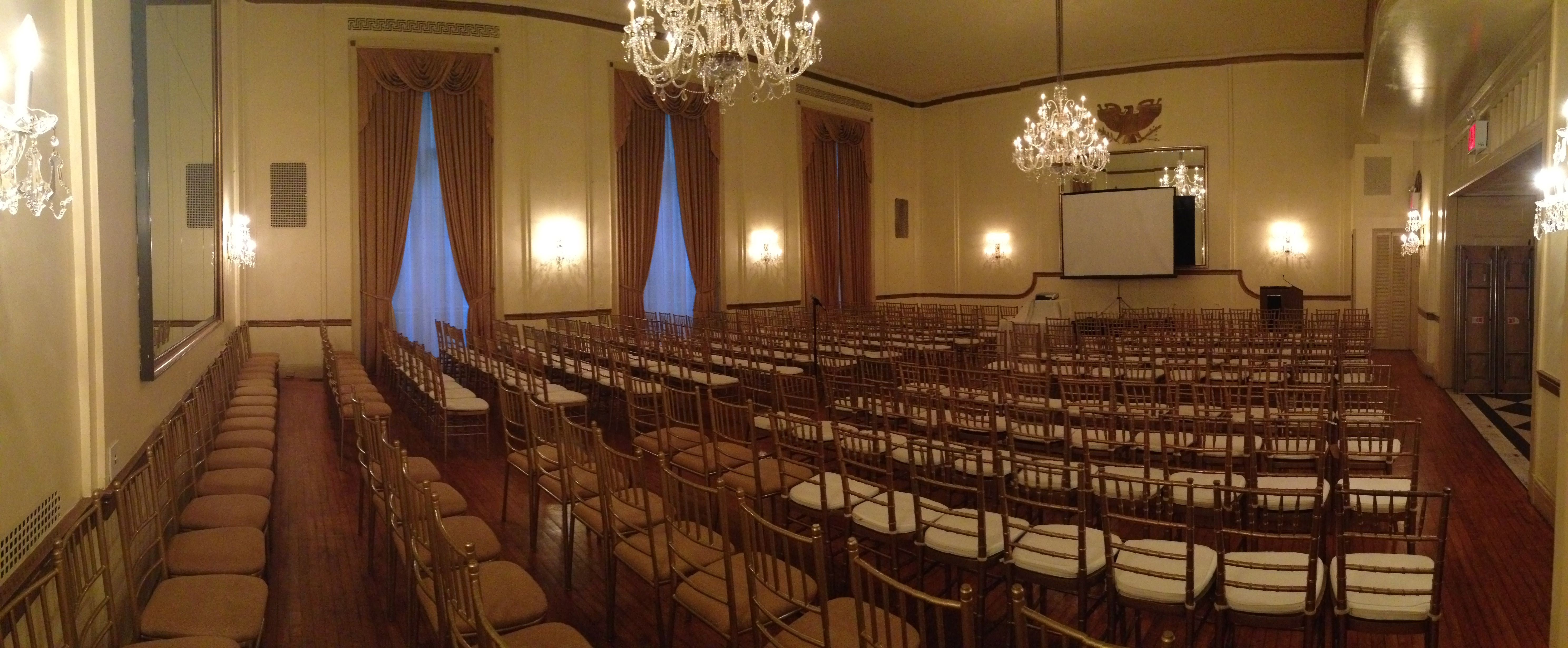 GrandBallroom with #theater seating for #corporate functions ...