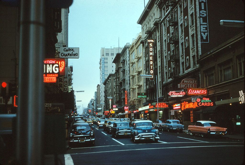 Neon Paradise, San Francisco, CA 1959 | Check out the sea of… | Flickr
