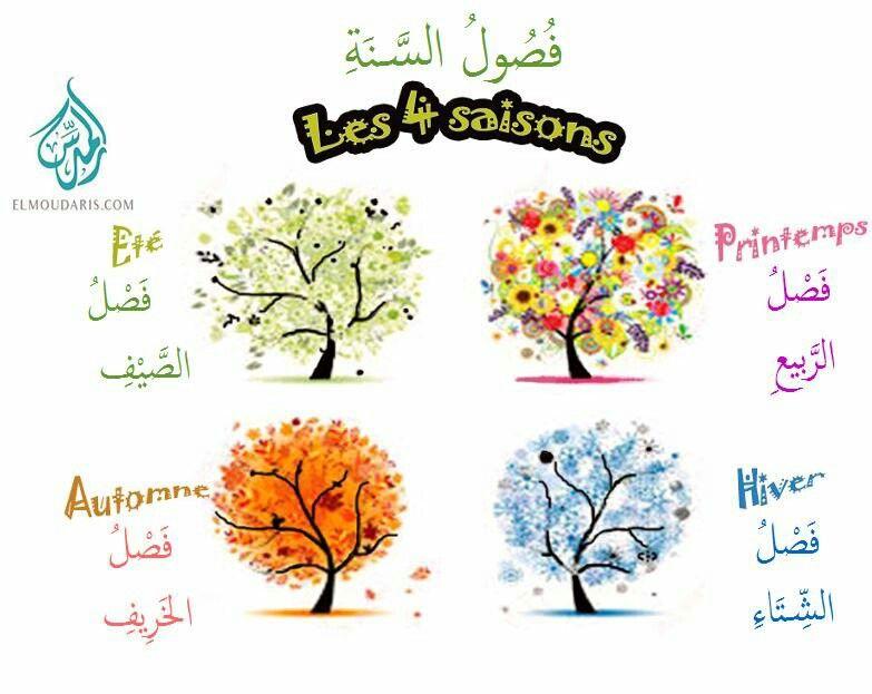 Les 4 saisons en arabe apprendre l 39 arabe pinterest for Le jardin des 4 saisons pusignan