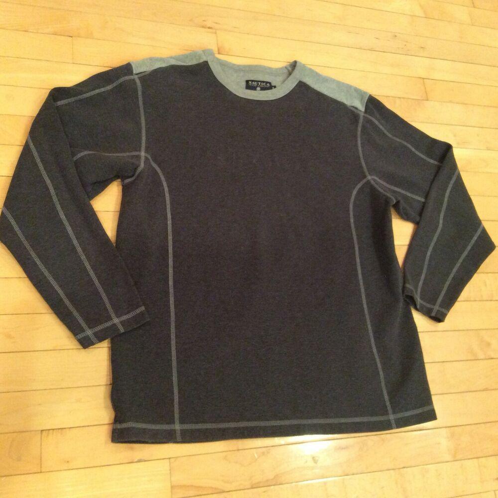 Heavy Weight Nautica Jeans Shirt Crew Pullover Long Sleeve Dark Grey 100 Cotton Ebay Long Sleeve Tshirt Men Long Sleeve Pullover Sweatshirt Tops [ 1000 x 1000 Pixel ]