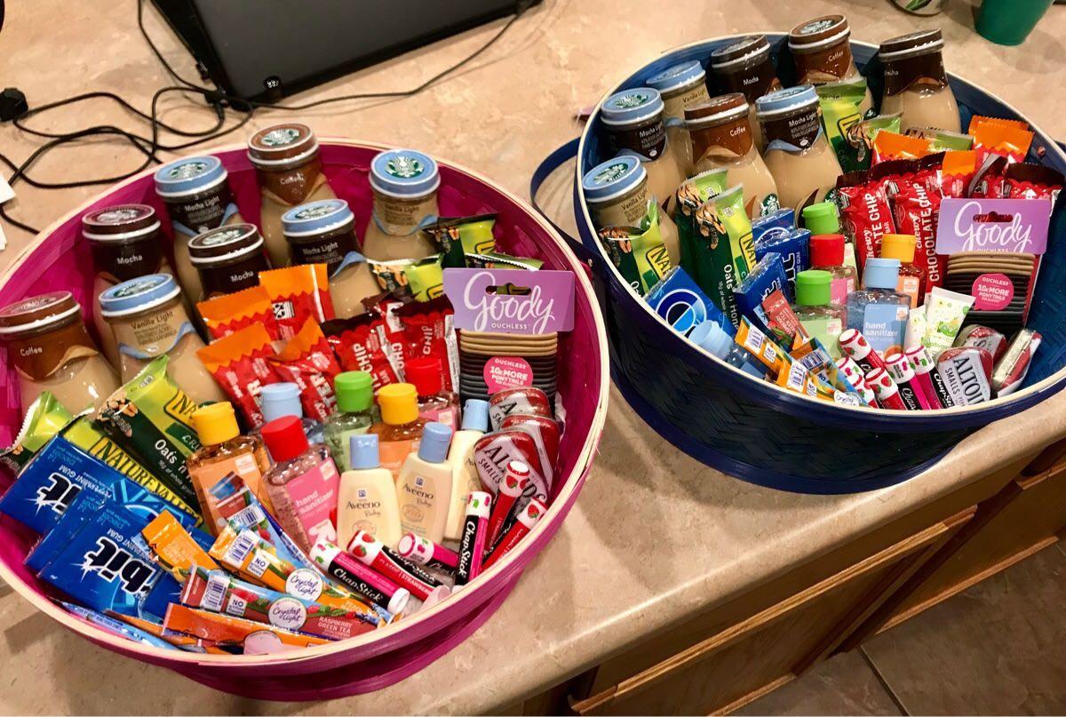 Baskets i put together for the ld nurseshospital staff