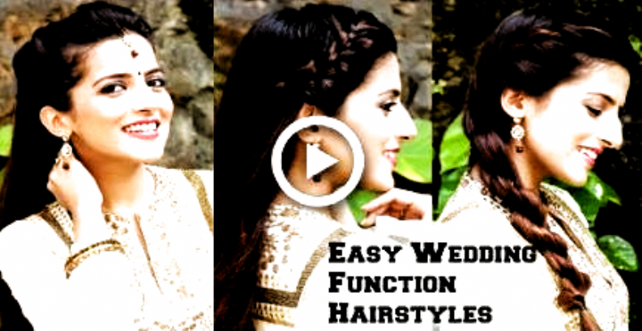 3 Easy Hairstyles For Indian Wedding Occasions For Medium Hair Indian Party H In 2020 Indian Wedding Hairstyles Medium Hair Styles Indian Hairstyles