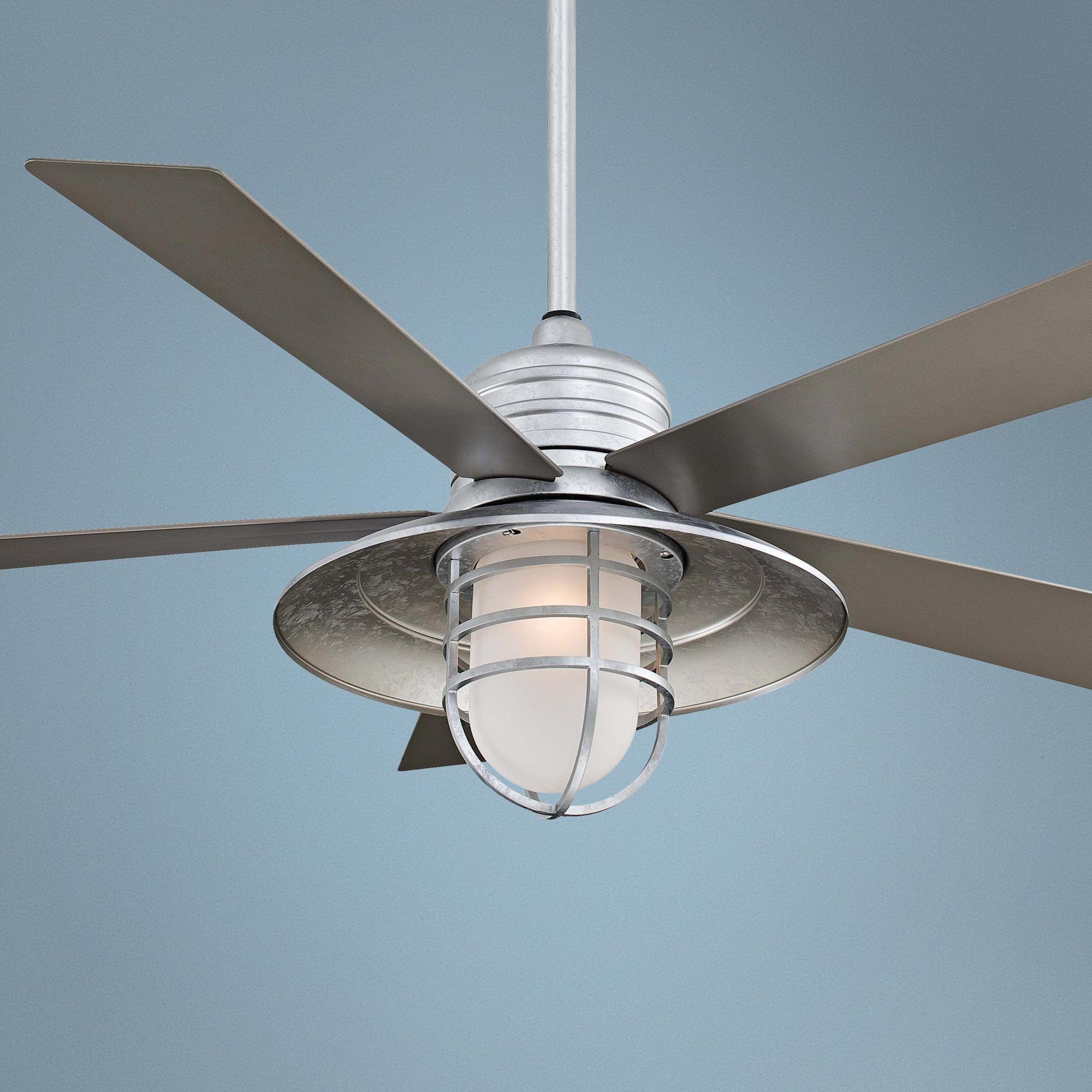 54 Minka Aire Rainman Galvanized Ceiling Fan