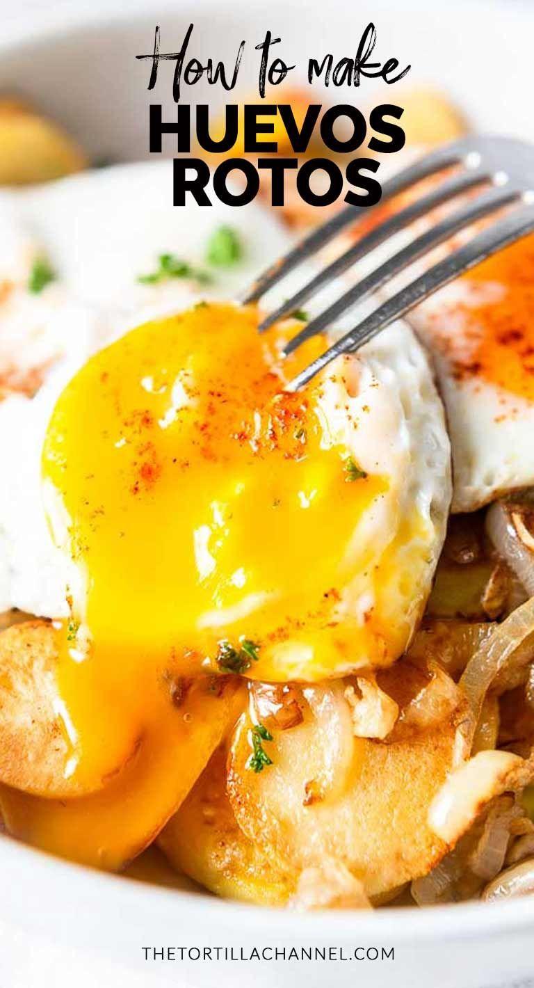 Huevos rotos #spanishmeals