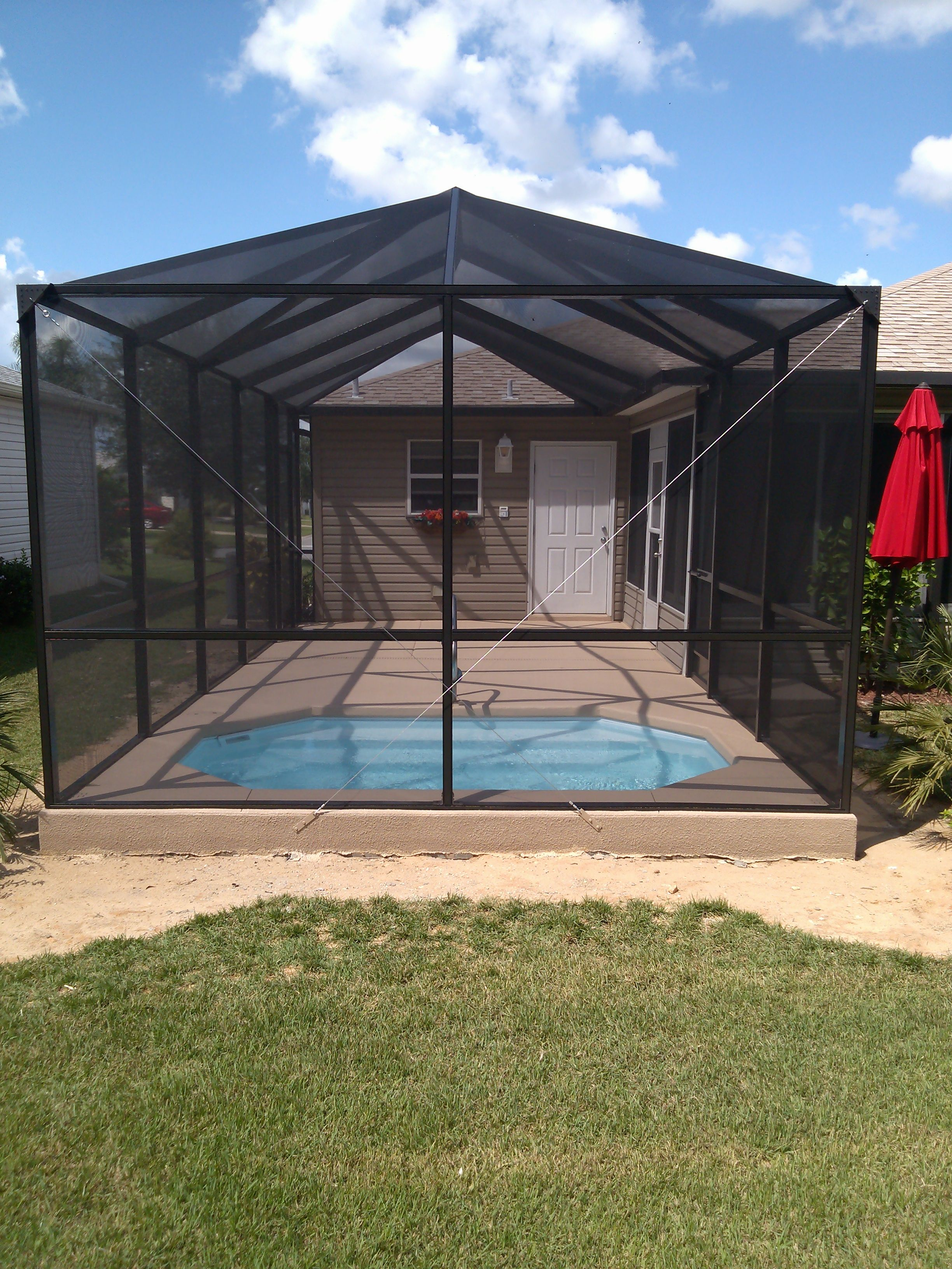 Bird Cages Concrete Swimming Pools We Offer It All Pool Screen Enclosure Pool Cage Pool Enclosures