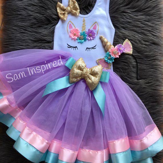 fe0ecf831 Ribbon tutu / unicorn tutu / birthday outfit / girl birthday/Unicorn outfit/  unicorn birthday party