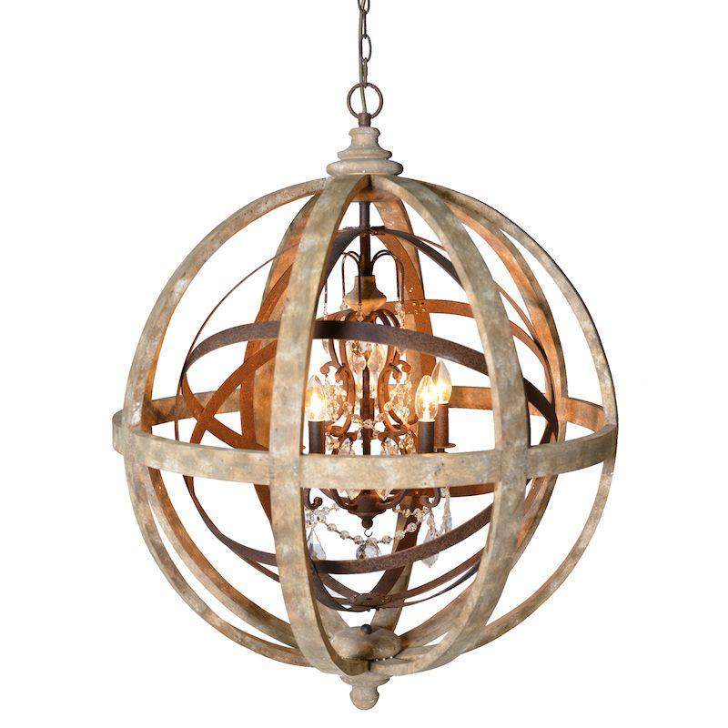 Beautiful Brass Orlando Large Globe Chandelier 8440 Best