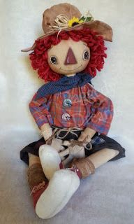 Raggedy Dreams: Just completed 2 more Annie Fall dolls....they mea...