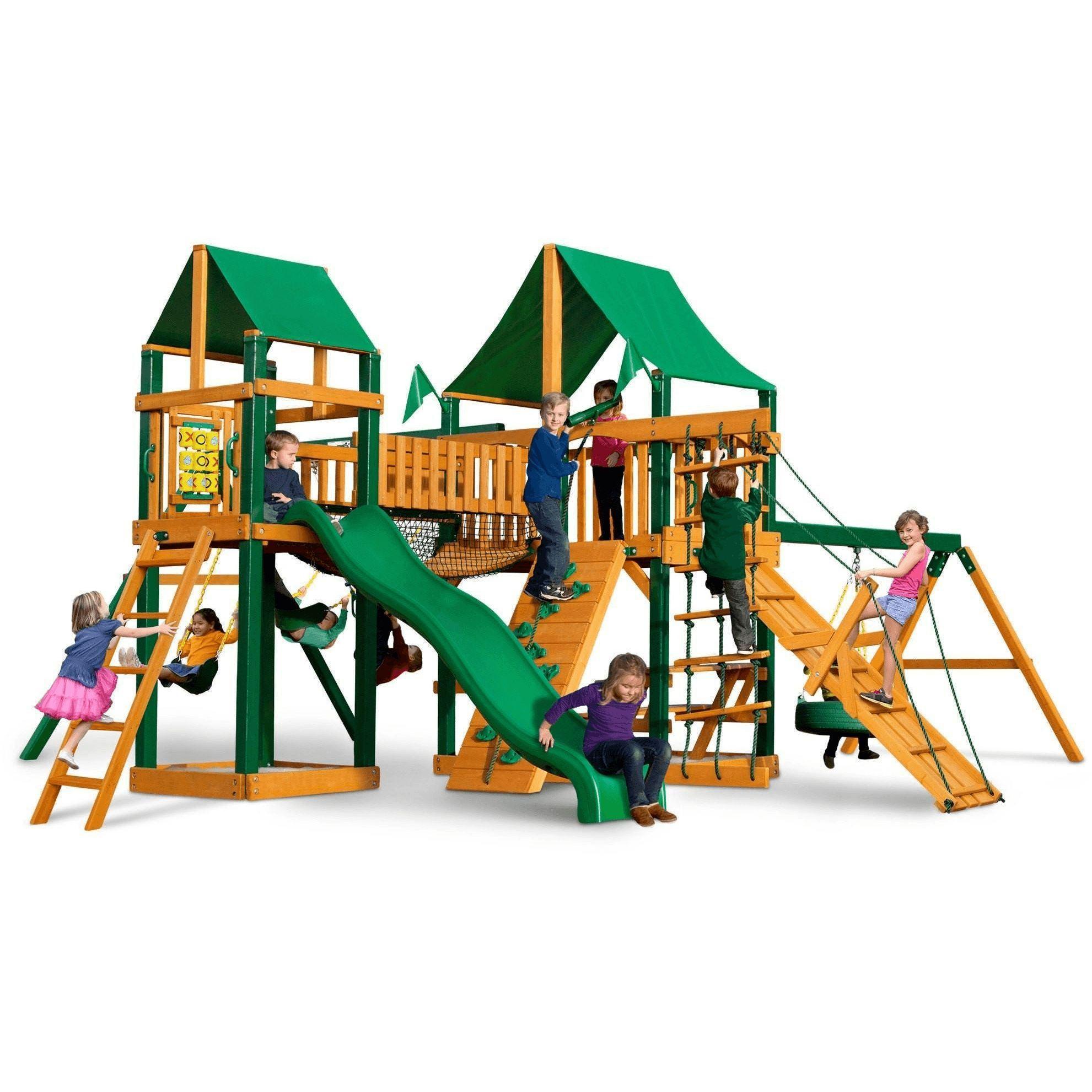 Pioneer Peak Swing Set Optional Treehouse And Fort