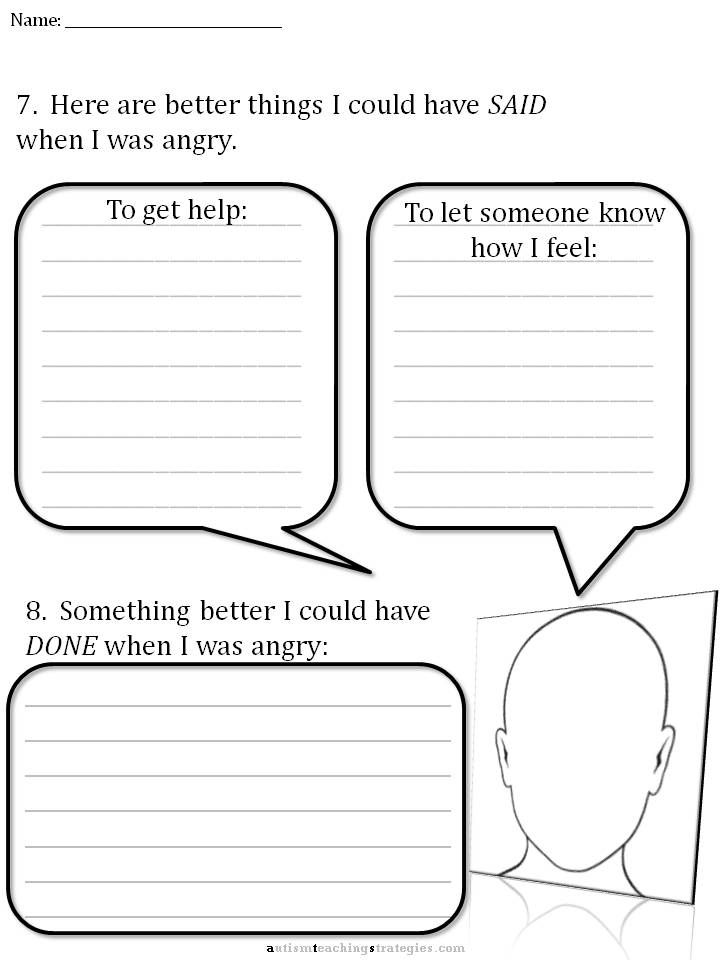 Cbt Childrens Emotion Worksheet Series 7 Worksheets For Dealing