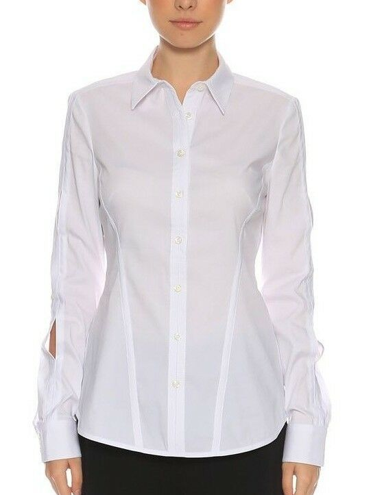 d4effdf647eae Karen Millen Crisp White Twist Ladies Shirt HA020 Formal Office Blouse Top  8 36  KarenMillen  Blouse  Formal