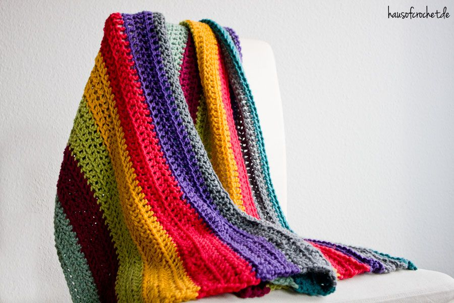 Tutorial Bunte Rippeldecke Häkeln Crafts Crochet Crochet Baby