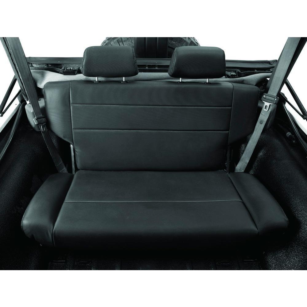 Bestop Trailmax Ii Black Crush All Vinyl Rear Fold N Tumble Seat For 1955 1983 Cj5 1976 1986 Cj7 1987 1995 Wrangler Yj In 2020 Rear Seat Bench Seat