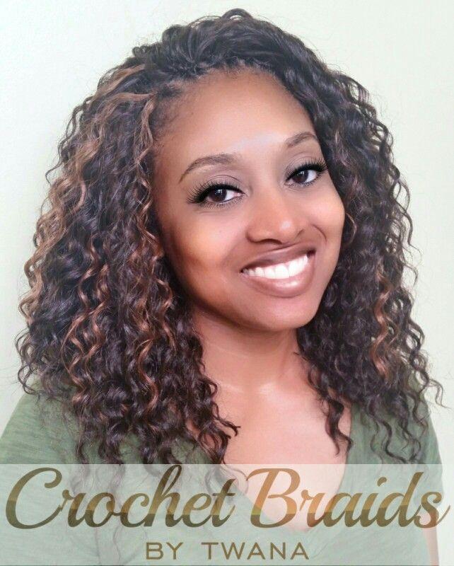 Crochet Braids With Freetress Deep Twist In Color 4 30 Crochetbraids Protectives Crochet Hair Styles Freetress Crochet Hair Styles Crochet Braids Hairstyles