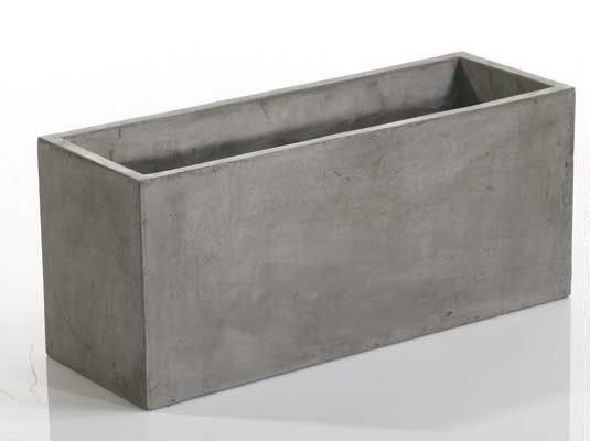 Newport Rectangular Concrete Planters Set Of Two With Images