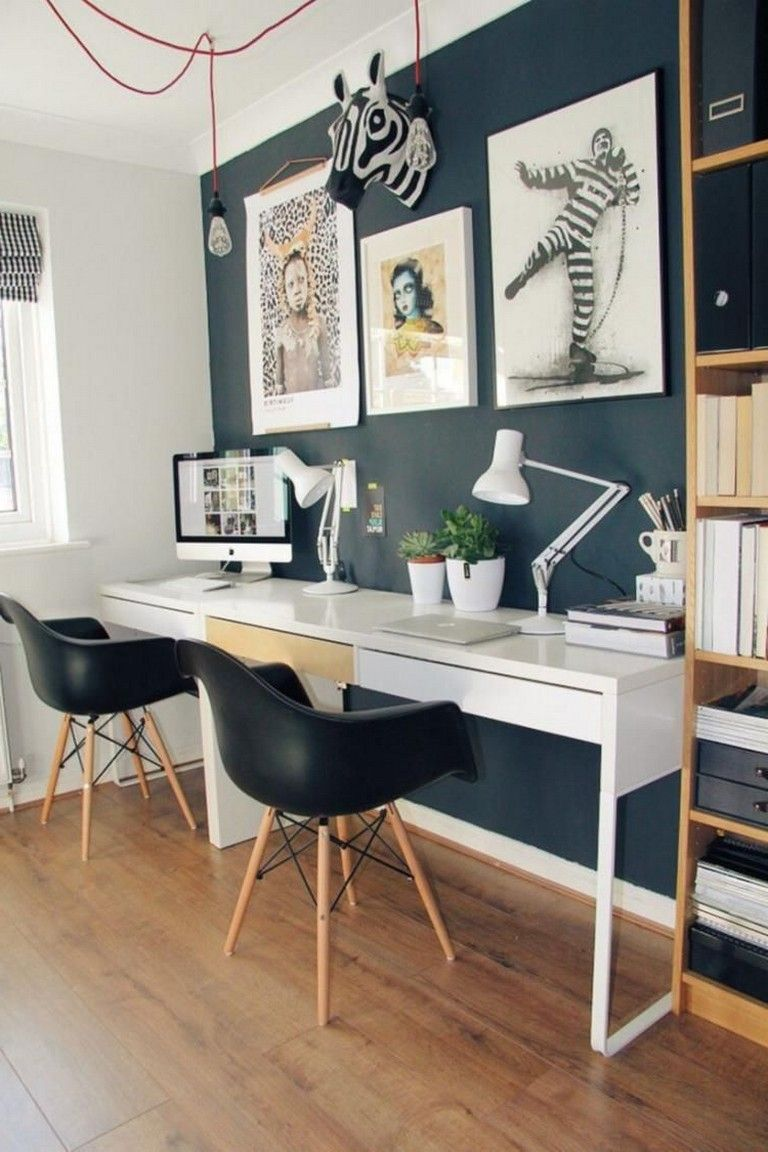 48 Elegant Office Decor Ideas For Small Apartment Home Office