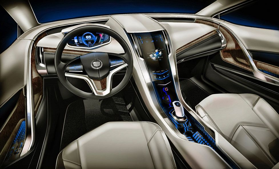 cadillac elr futuristic dashboard future car concept futuristic interior futuristic car. Black Bedroom Furniture Sets. Home Design Ideas