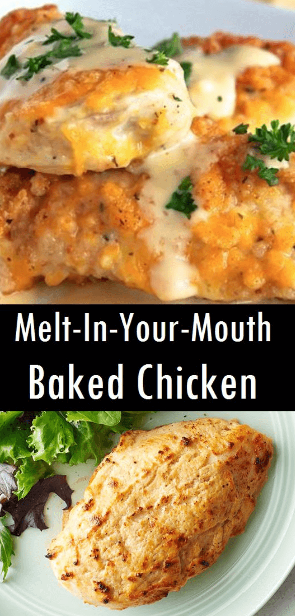 This chicken breast recipe is perfect for dinner served with veggies, pasta or rice! Simply top the chicken with the cheese mixture and bake. The entire family will love this quick and easy recipe! Most #chickenalfredo