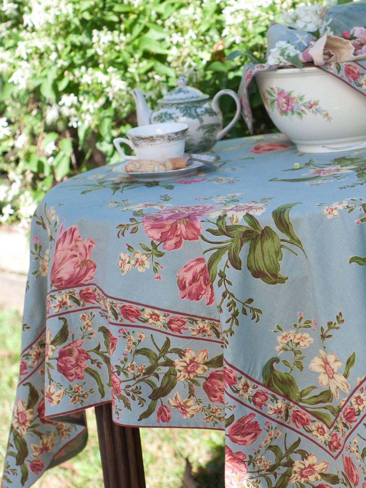 Mother S Garden Tablecloth Smoke Table Linens Kitchen