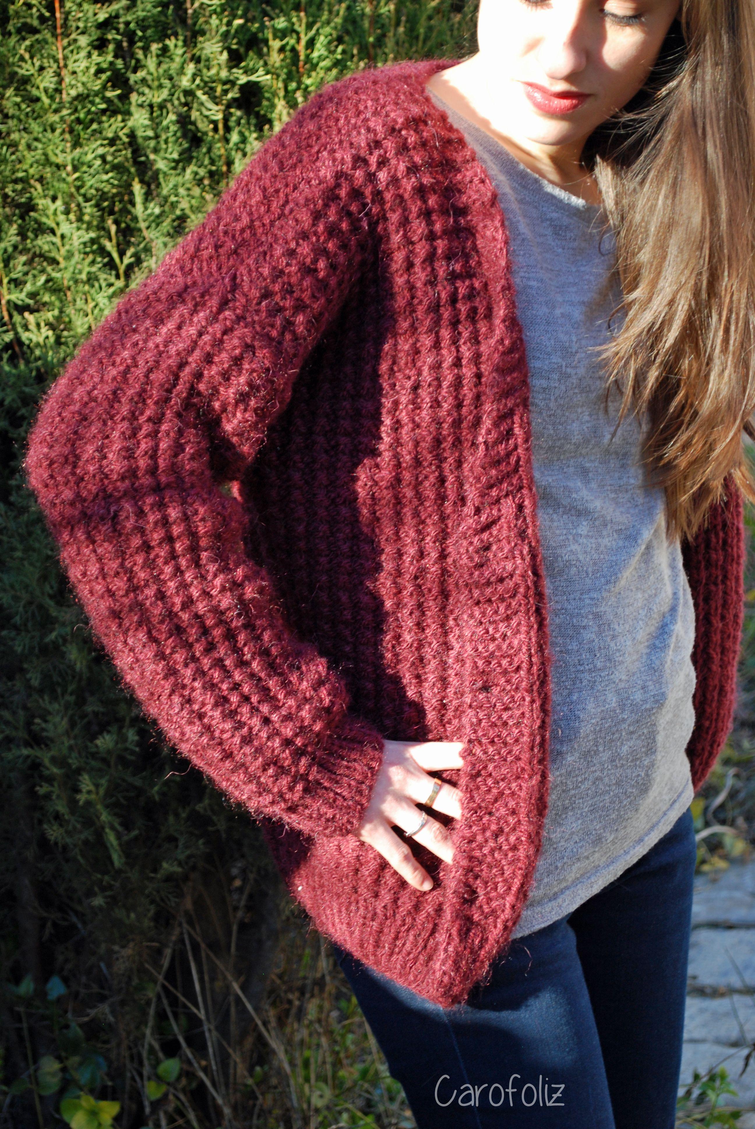 gros gilet loose au tricot   vetements   Pinterest   Knitting ... 89062bbc520