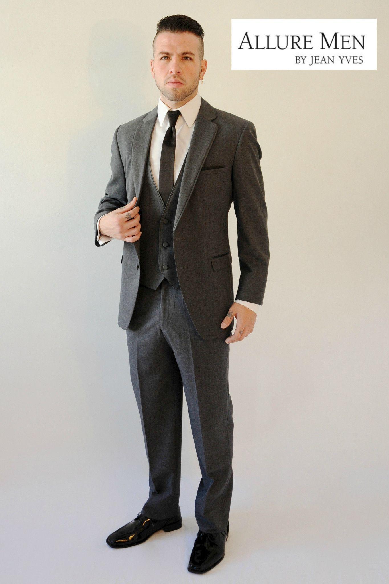 Rent the Steel Grey Tuxedo Box by Allure Men® Gray