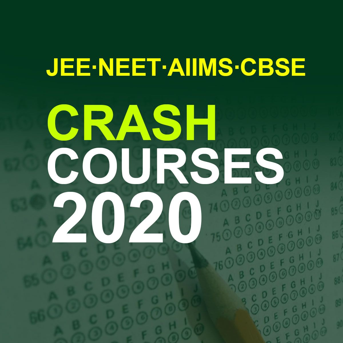 Rank High Get Flat 50 Off On 2020 Jee Neet Aiims And Updated Cbse Crash Courses Crash Course Exam Preparation Exam