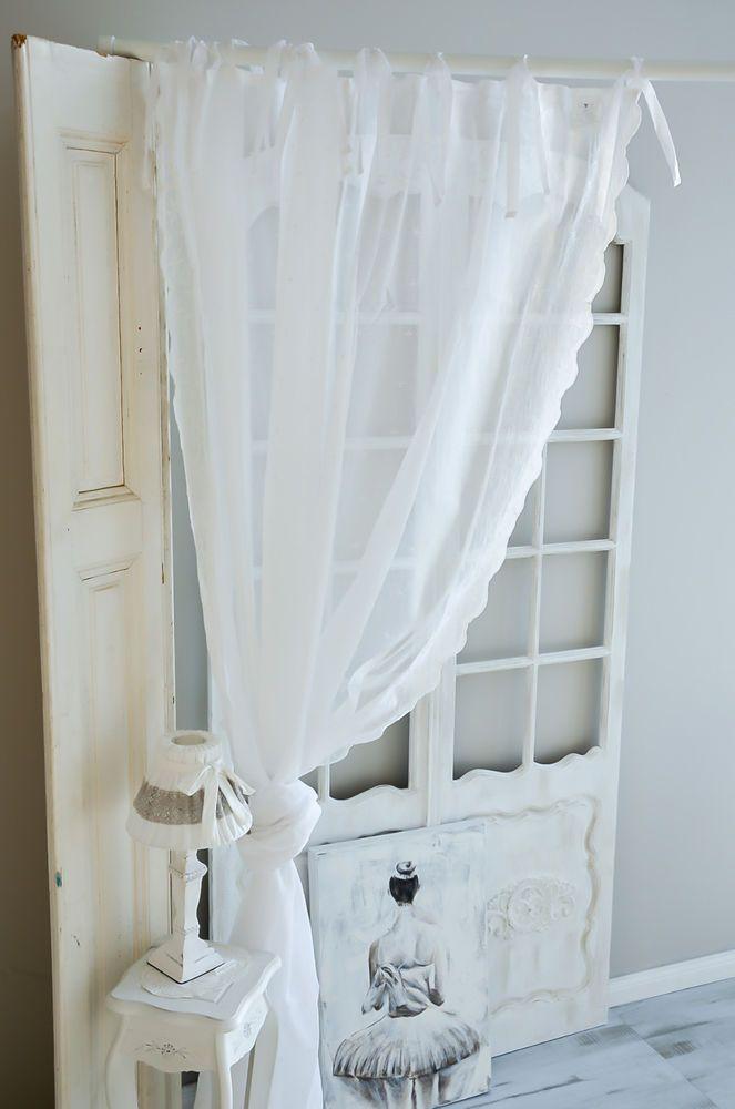 Charming Schlafzimmer Gardinen Landhausstil #11: Van Deurs Gardine Offwhite 200 X 250 Vorhang Landhaus Shabby Chic Vintage  Spitze | EBay