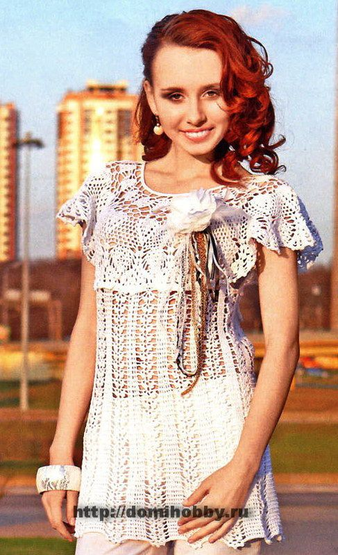 Lace Yoke Top free crochet pattern # Pin++ for Pinterest # | Crochet ...
