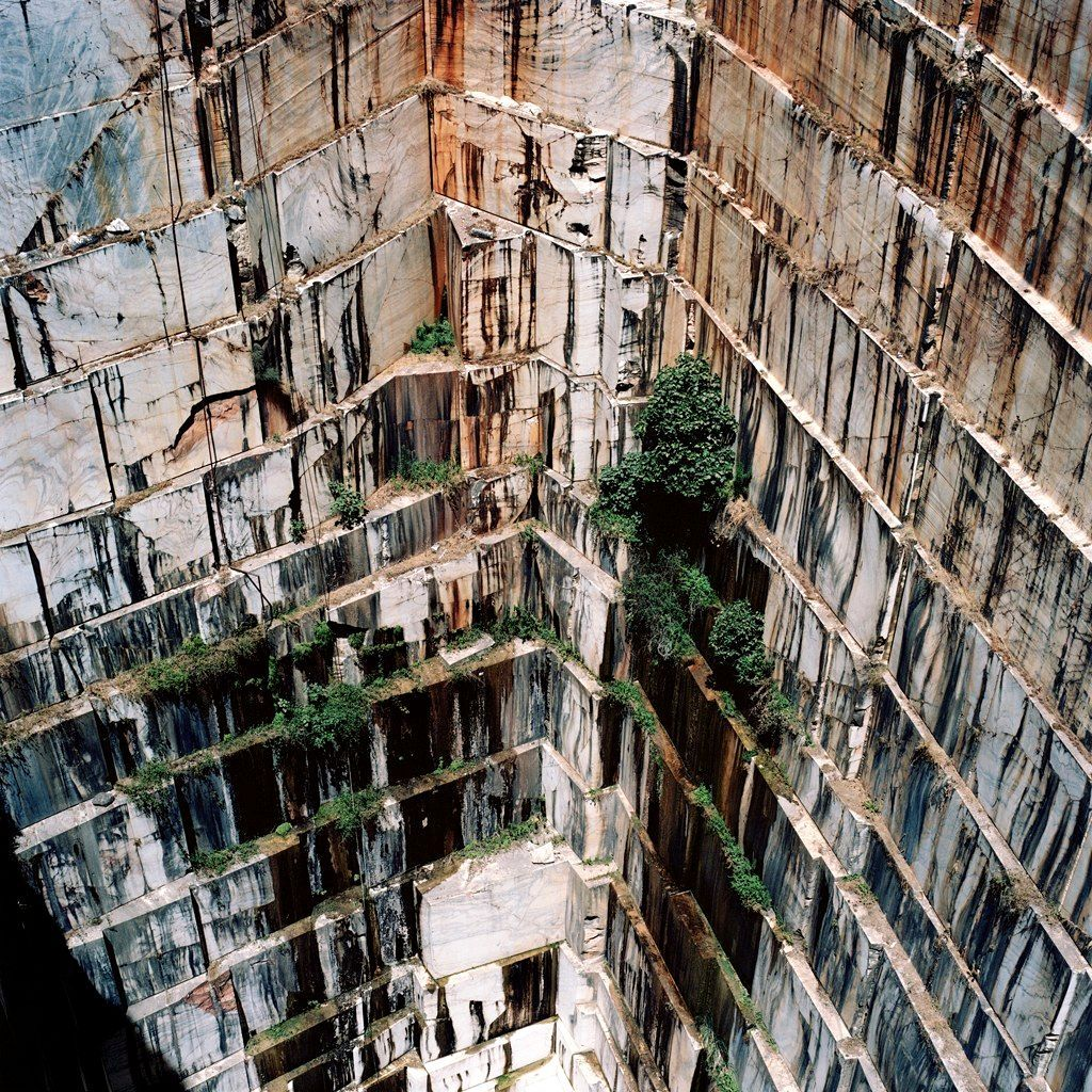 Open fit marble mine, Portugal