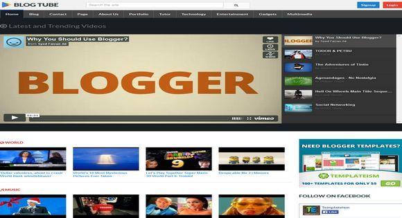 Professional Blogger Templates   BlogTube - Video Blogger Template ...