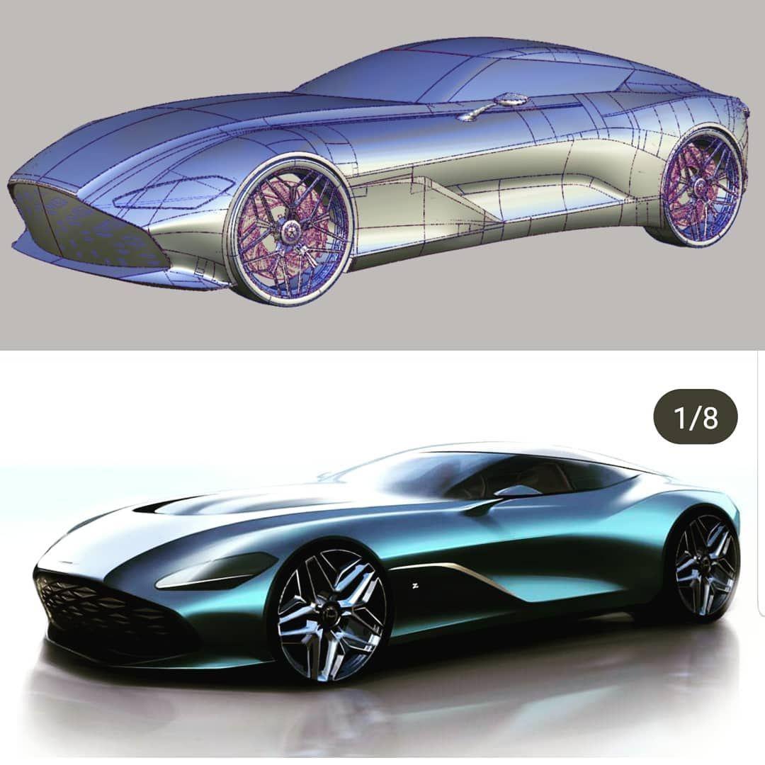 Aston Martin Sketch: Aston Martin DBS GT Alias🙂 ING~ Reference