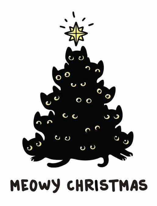 Uploaded By Sally Find Images And Videos About Cat Christmas And Lights On We Heart It The App To Get Cat Christmas Tree Christmas Cats Christmas Drawing