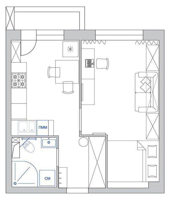 """""""Дом света"""" - реализованный проект однокомнатной квартиры ..."""