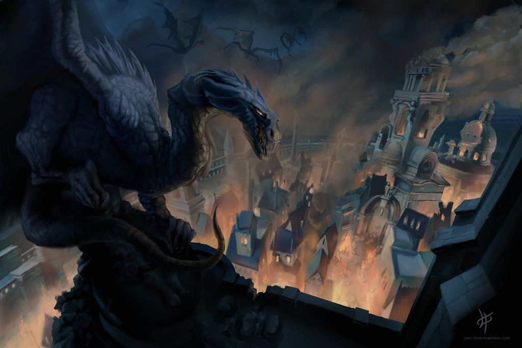 The fall of Gondolin by lmteixeira