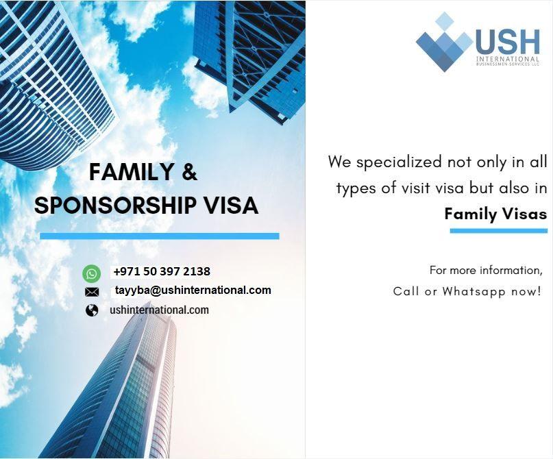 Family & Sponsorship visa +971503972138 we specialized not
