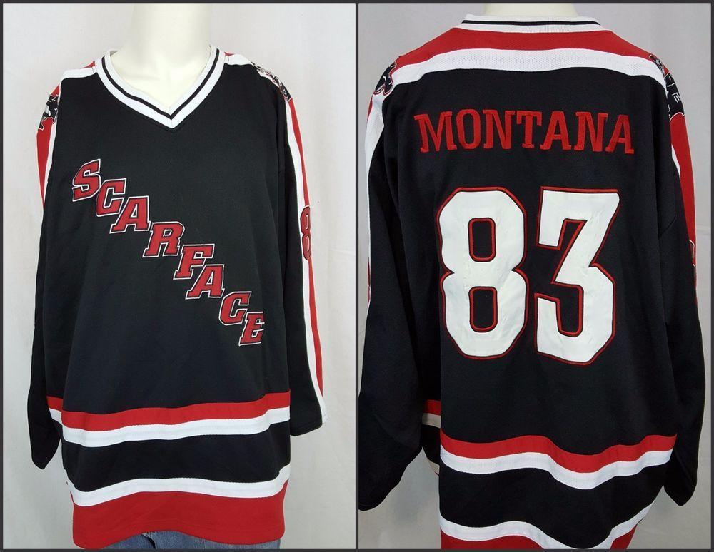 wholesale dealer af0df 0ae32 Vintage Scarface Tony Montana #83 Al Pacino Hockey Sewn ...