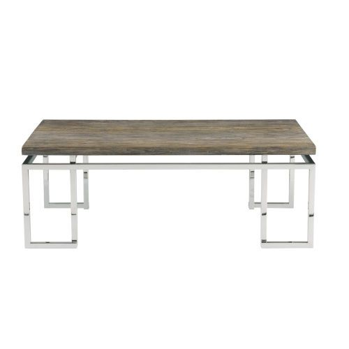 Bernhardt K1183 Interiors Gray Pearl And Silver 50 Inch Cocktail