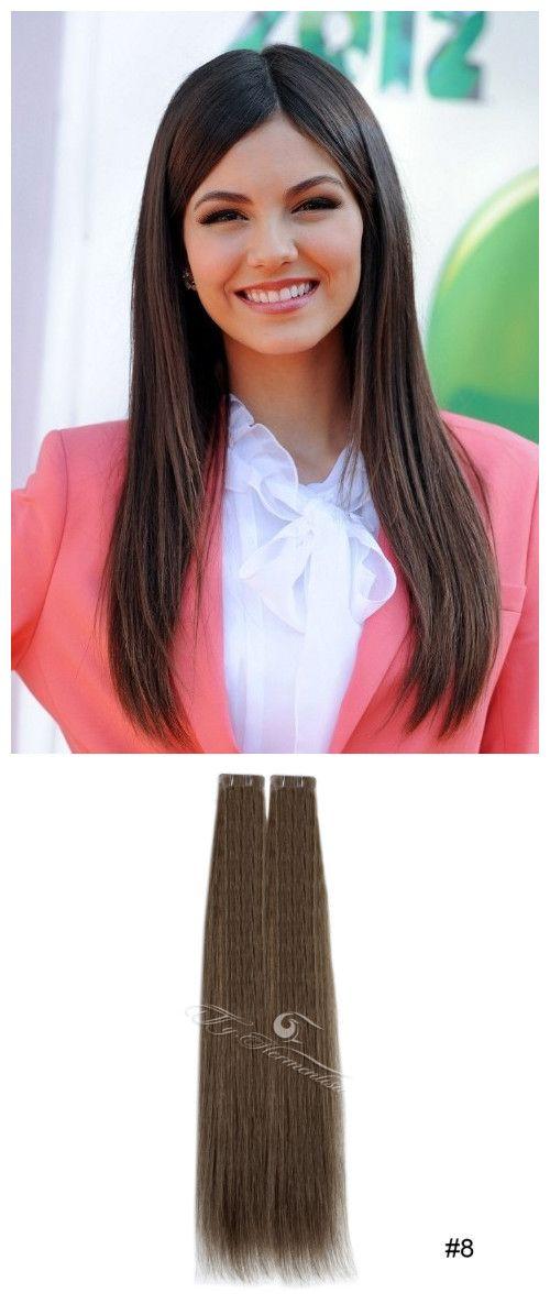 Light Chestnut Brown8 Ty Hermenlisa Tape In Hair Extensions