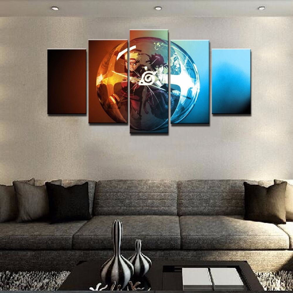 panel cartoon naruto uchiha sasuke ice and fire modern home wall  -  panel cartoon naruto uchiha sasuke ice and fire modern home wall decorcanvas picture art hd print painting on canvas artworks  naruto painting