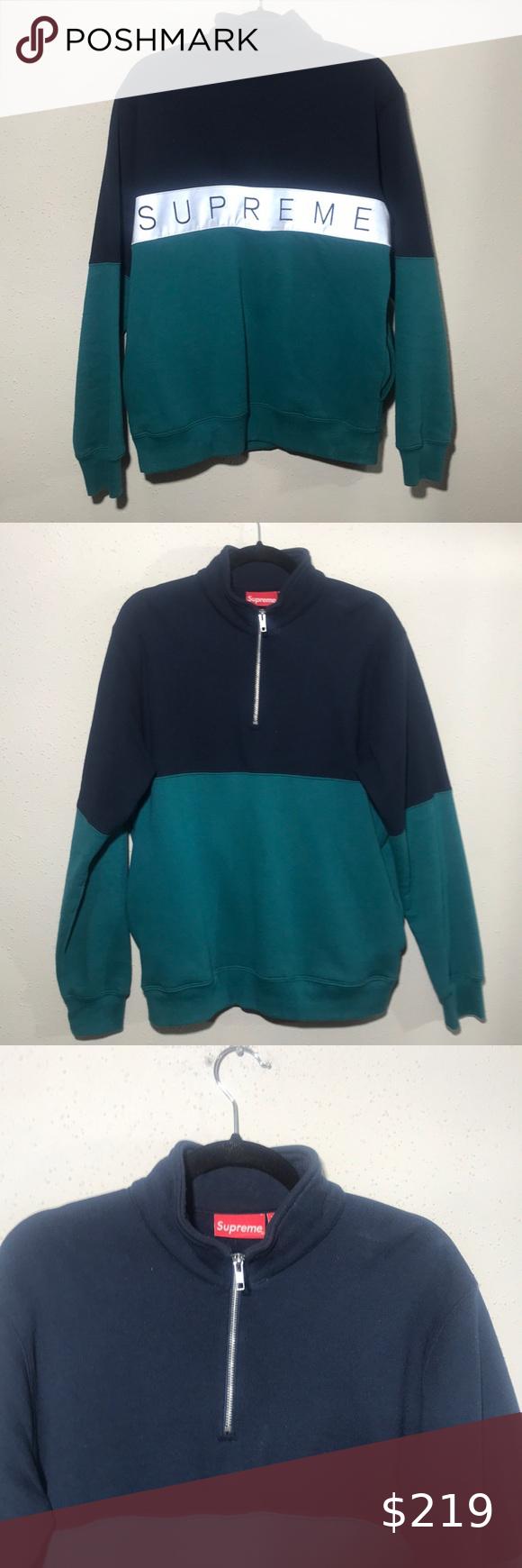 Supreme Back Spellout 3m Medium Sweater Crew Neck Sweater Men Supreme Sweater Black Supreme Hoodie [ 1740 x 580 Pixel ]