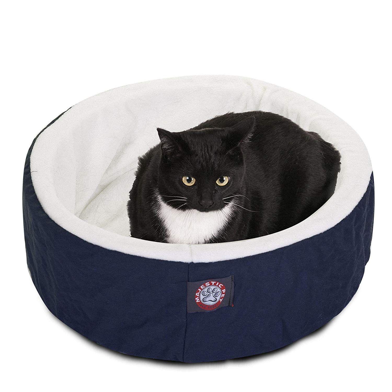 20 inch Blue Cat Cuddler Pet Cat Bed By Majestic Pet