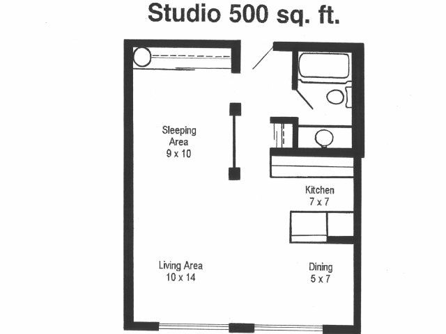 Studio Apartment Floor Plans 500 Sqft Bluffs Brochure Living Room