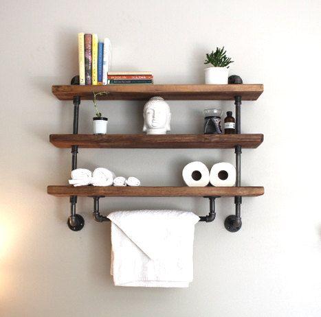 Shelving unit, reclaimed wood, shelving, industrial, storage, shelf ...