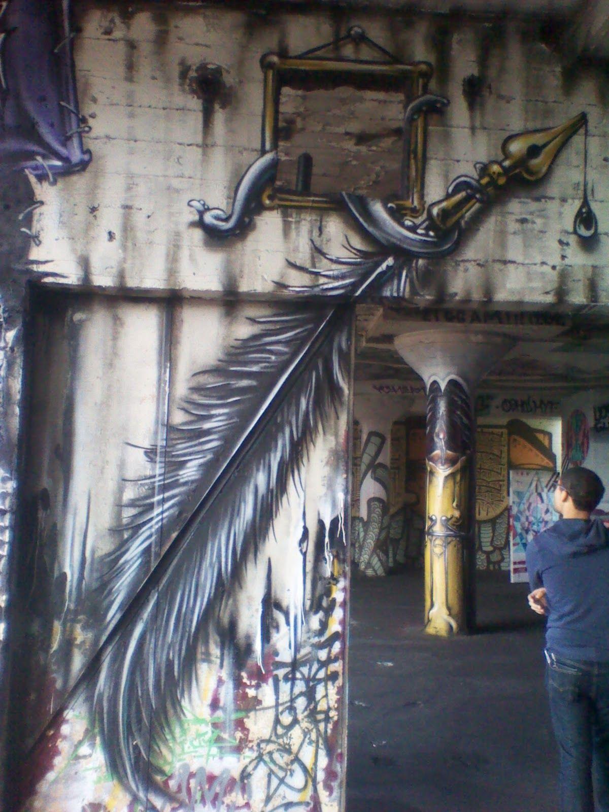 Street Art Show In Abandoned Buildinggreeting Card Designer