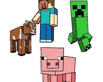Minecraft Svg Minecraft Steve Steve Svg Minecraft Pig Svg
