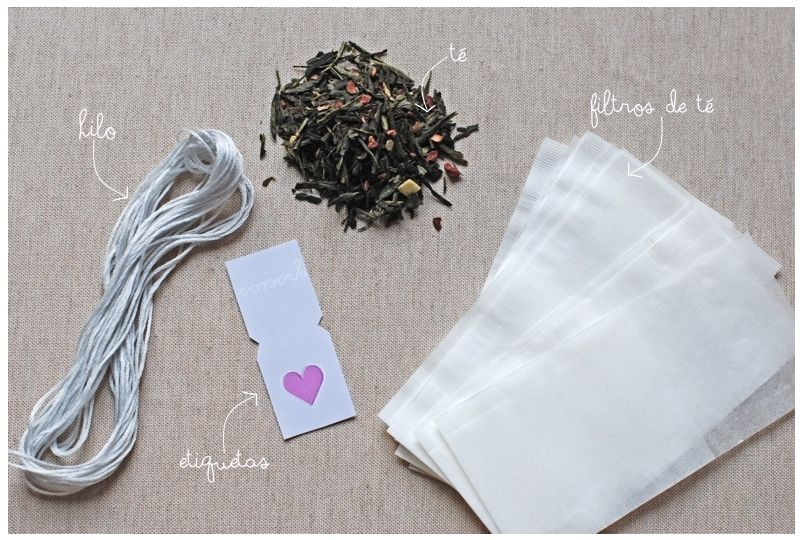 1b3bb16ac Como hacer tus bolsitas del té. DIY.Bolsitas de té personalizadas-detalle  invitados/Custom tea bag wedding favors Bolsitas